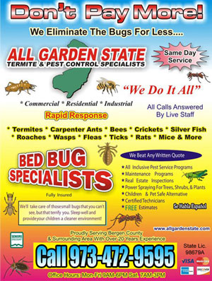 All Garden State Termite and Pest Control Specialist | pests